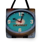 Chevy Neon Clock Tote Bag