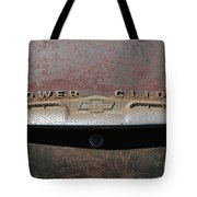 Chevy Power Glide Trunk Emblem Tote Bag