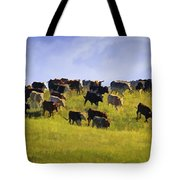 Cheyenne Cattle Roundup Tote Bag