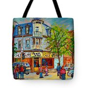 Chez Vito Rue Fairmount Landmark Architecture Beautiful Summer Scene Montreal 375 Carole Spandau Art Tote Bag