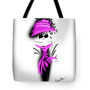 Chic In Pink Silk Couture  Tote Bag
