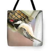 Chicadee At Suet Tote Bag
