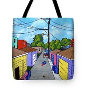 Chicago Alley Tote Bag