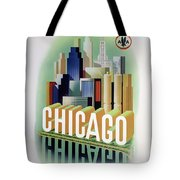 Chicago American Airlines 1950 Tote Bag