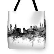 Chicago And New York City Skylines Mashup Tote Bag