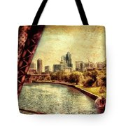 Chicago Approaching The City In June Textured Tote Bag