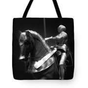 Chicago Art Institute Armored Knight And Horse Bw 01 Tote Bag