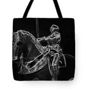 Chicago Art Institute Armored Knight And Horse Bw Pa 02 Tote Bag