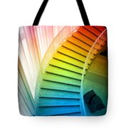 Chicago Art Institute Staircase Pa Prismatic Vertical 02 Tote Bag