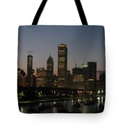 Chicago At Night Tote Bag