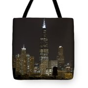 Chicago At Night I Tote Bag