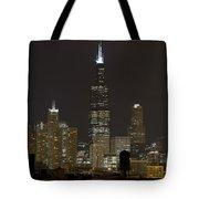 Chicago At Night I Tote Bag