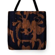 Chicago Bears Wood Fence Tote Bag