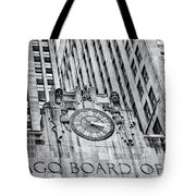 Chicago Board Of Trade Bw Tote Bag