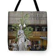 Chicago Board Of Trade Signage Tote Bag