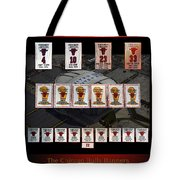 Chicago Bulls Banners Collage Tote Bag