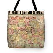 Chicago, Burlington Route System Map, 1892. Tote Bag