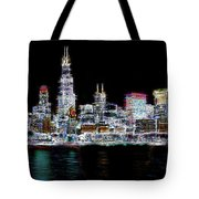 Chicago By Night Tote Bag