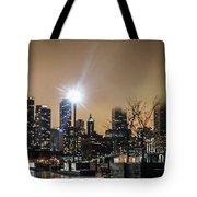 Chicago City At Night Tote Bag
