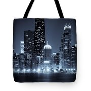 Chicago Cityscape At Night Tote Bag