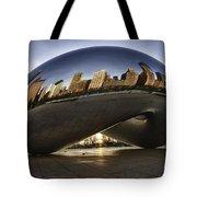 Chicago Cloud Gate At Sunrise Tote Bag