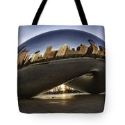 Chicago Cloud Gate At Sunrise Tote Bag