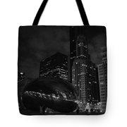 Chicago Cloud Gate Night Tote Bag