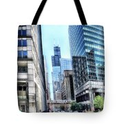 Chicago Concrete Canyons Tote Bag