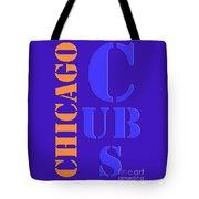 Chicago Cubs Baseball Team Vintage Original Typpography Tote Bag