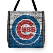 Chicago Cubs Brick Wall Tote Bag