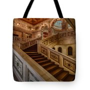 Chicago Cultural Center Stairs Tote Bag by Mike Burgquist