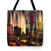 Chicago Draws The Curtain Tote Bag