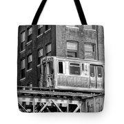 Chicago El And Warehouse Black And White Tote Bag