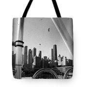Chicago Ferris Wheel Skyline Tote Bag