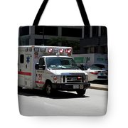 Chicago Fire Department Ems Ambulance 35 Tote Bag