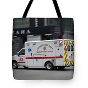 Chicago Fire Department Ems Ambulance 53 Tote Bag