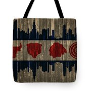 Chicago Flag Barn Door Tote Bag