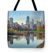 Chicago From Lincoln Park Tote Bag