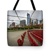 Chicago From Pritzker Tote Bag