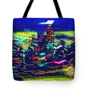 Chicago Gold Coast Abstract Tote Bag