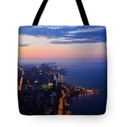 Chicago Gold Coast Night Tote Bag by Kyle Hanson