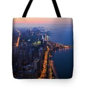 Chicago Gold Coast Night Portrait Tote Bag by Kyle Hanson