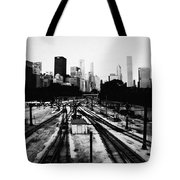 Chicago Grant Park Railroad Skyline Tote Bag