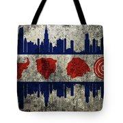 Chicago Grunge Flag Tote Bag