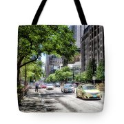 Chicago Hailing A Cab In June Tote Bag