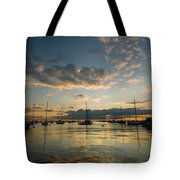 Chicago Harbor Sunrise Tote Bag