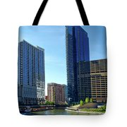 Chicago Heading Up The North River Branch Tote Bag