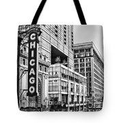 Chicago In Black And White Tote Bag