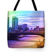Chicago In November Chicago River South Branch Pa Rainbow 02 Tote Bag