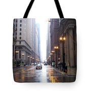 Chicago In The Rain Tote Bag